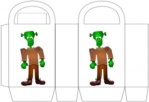 Free printable Frankenstein party bag