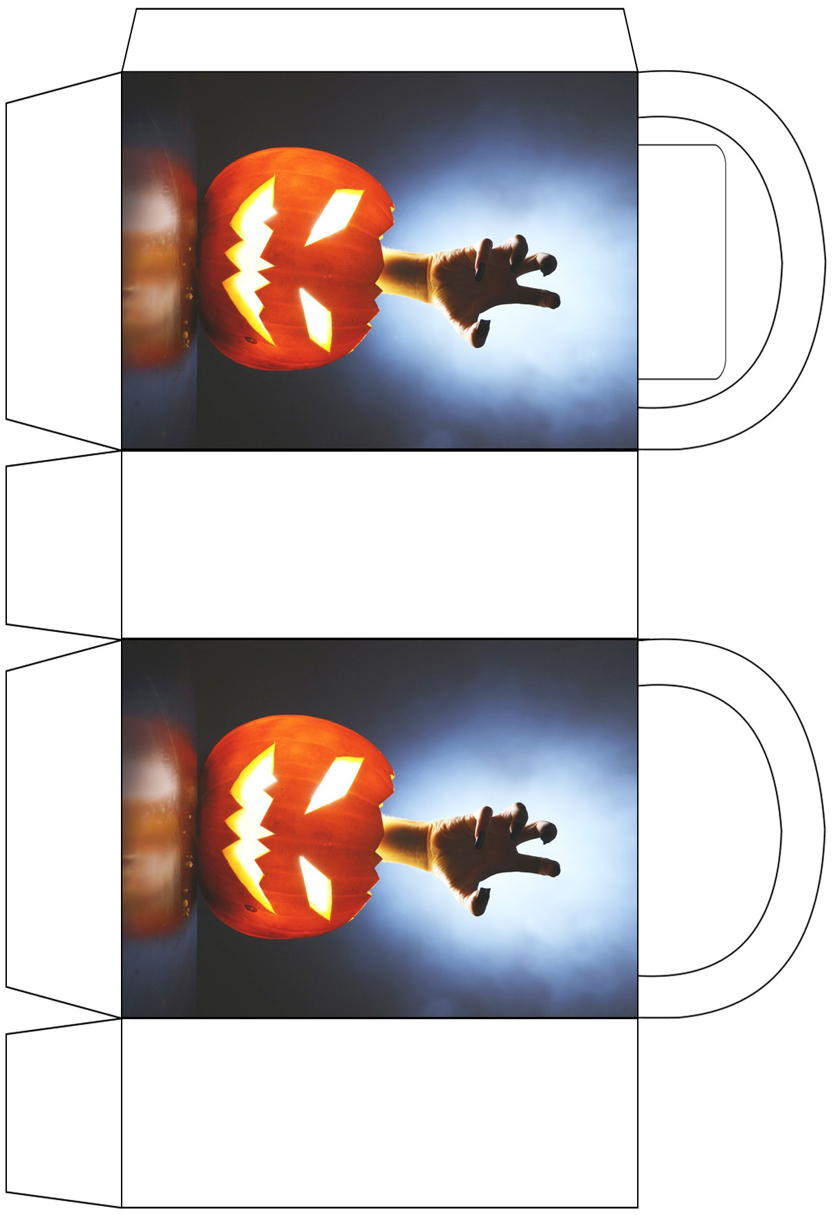 Scary Hand and Pumpkin Party Bag
