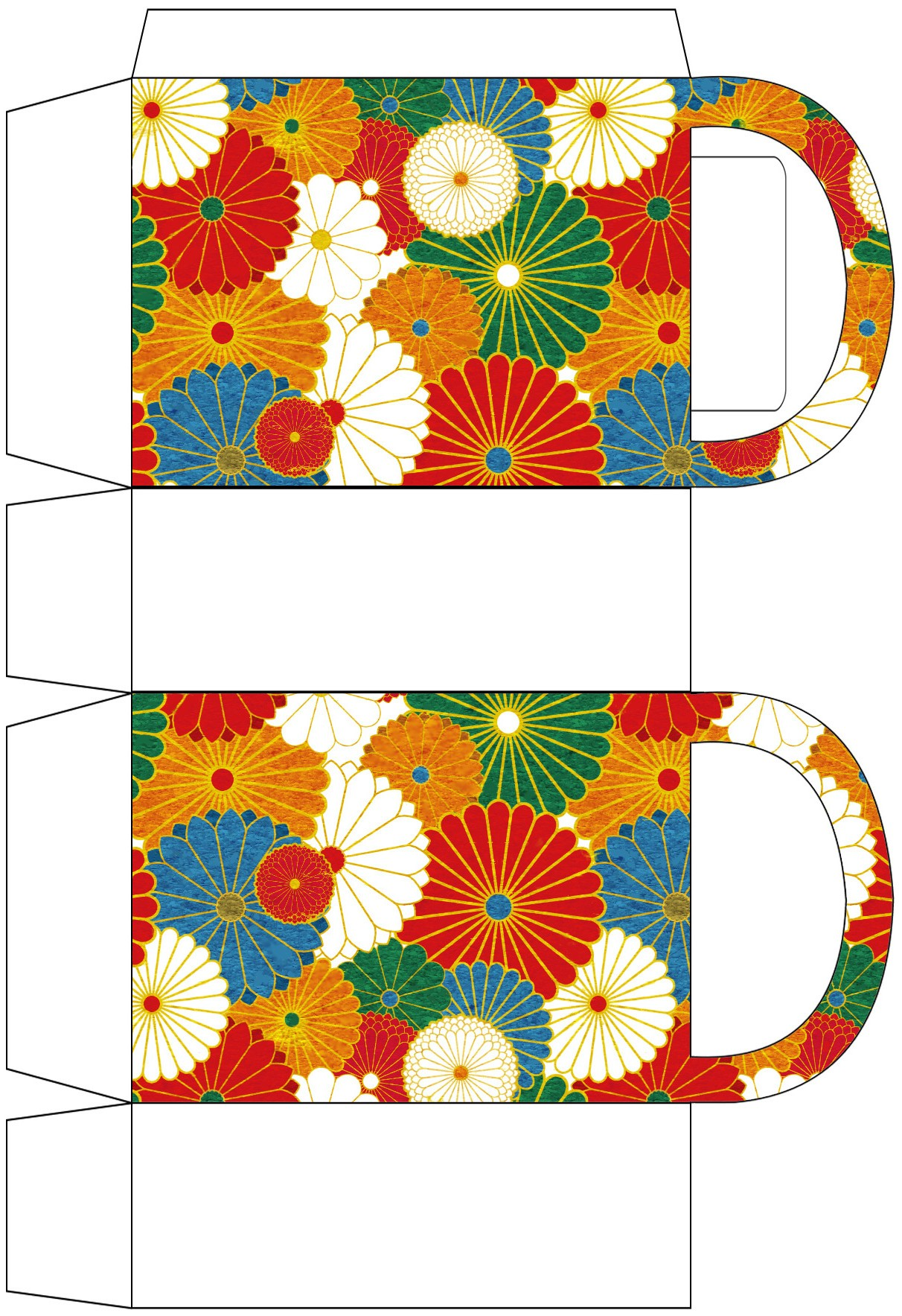 Japanese Flowers Party Bag Rooftop Post Printables