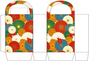 Japanese Flowers Party Bag