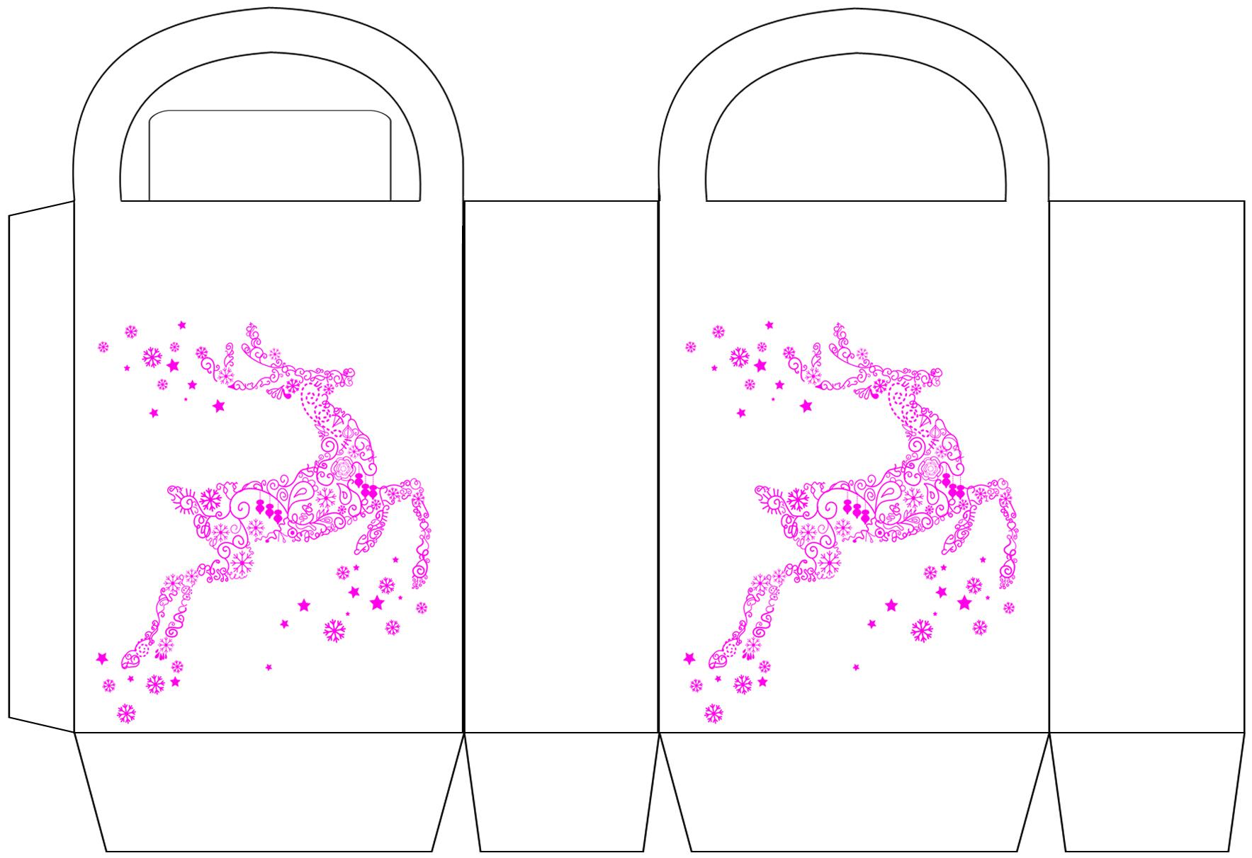 Pink Reindeer Party Bag