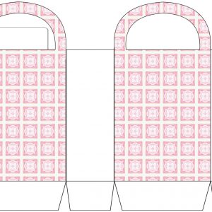 Pink Tiled Party Bag