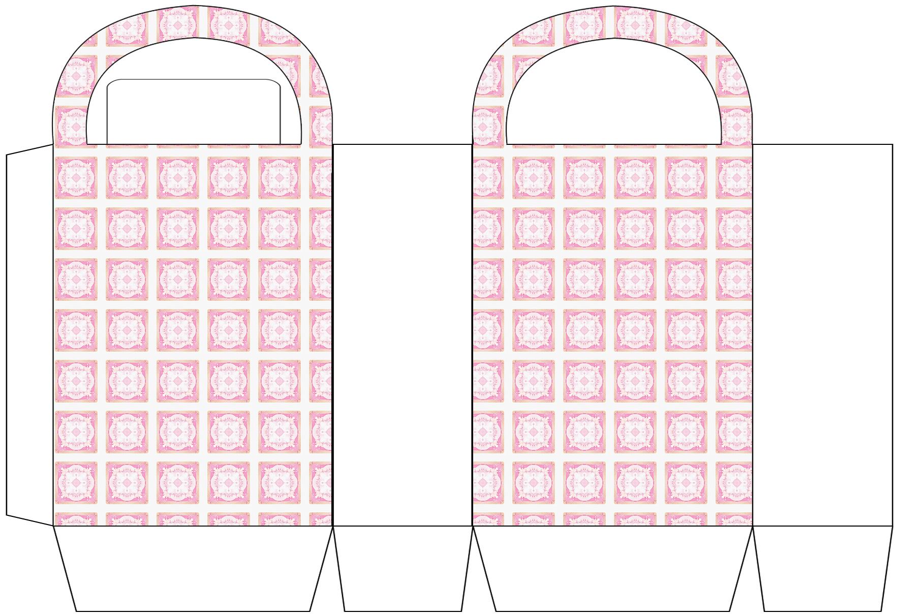 Pink Tiled Party Bag