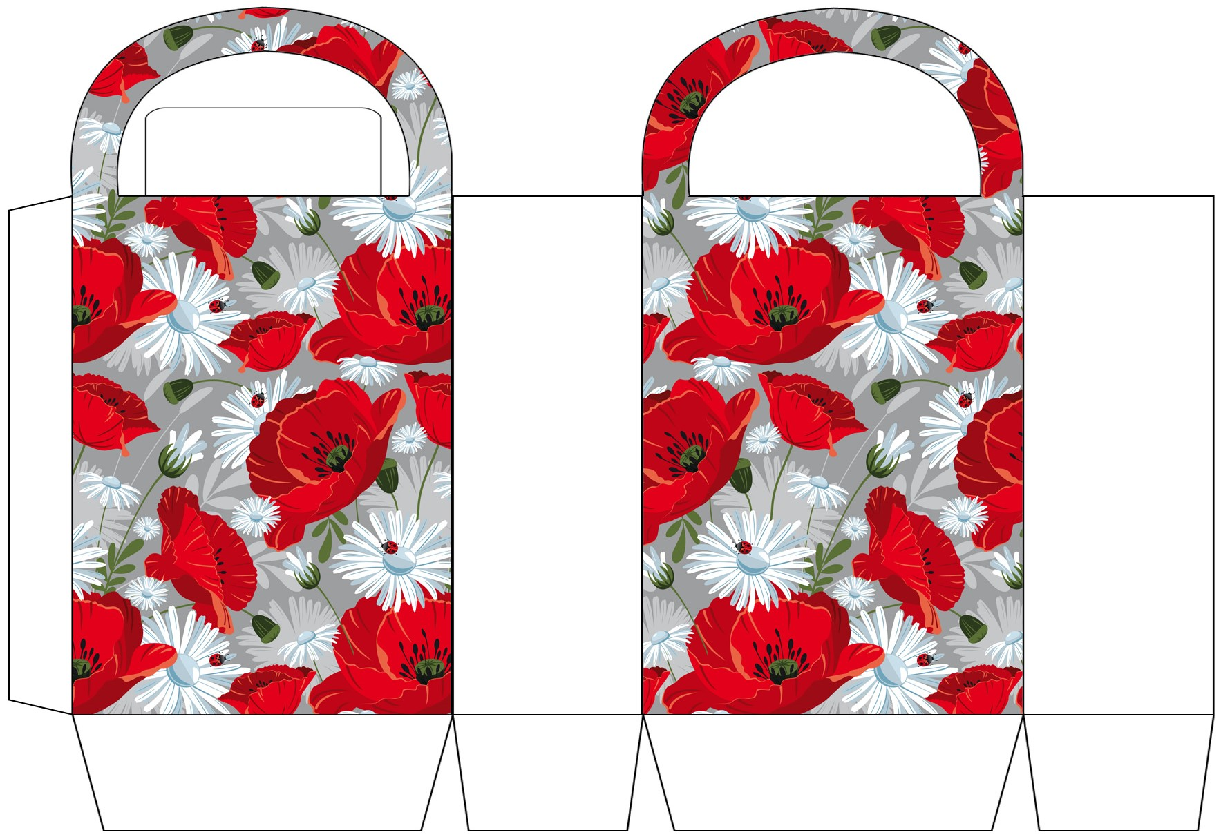 Poppies and Pansies Party Bag