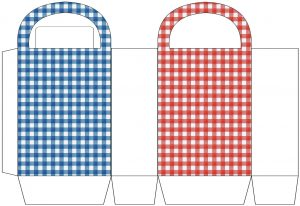 Red and Blue Check Party Bag