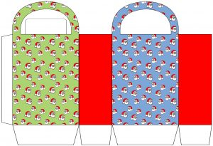 Santa Patterned Party Bag