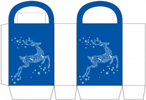 White Reindeer Party Bag