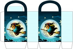 Witch on a Broomstick Party Bag