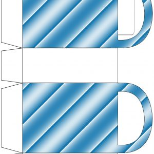 Blue Striped Party Bag