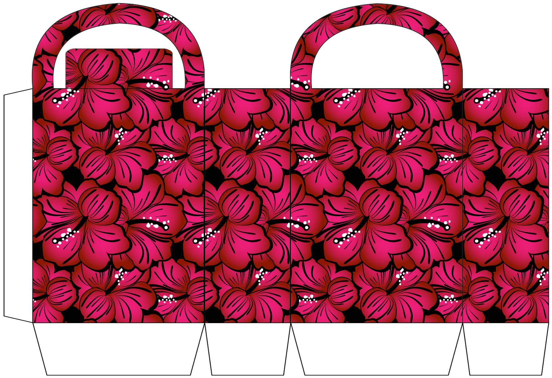 Bold Pink Floral Party Bag