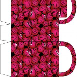 Bold Pink Blossoms Party Bag