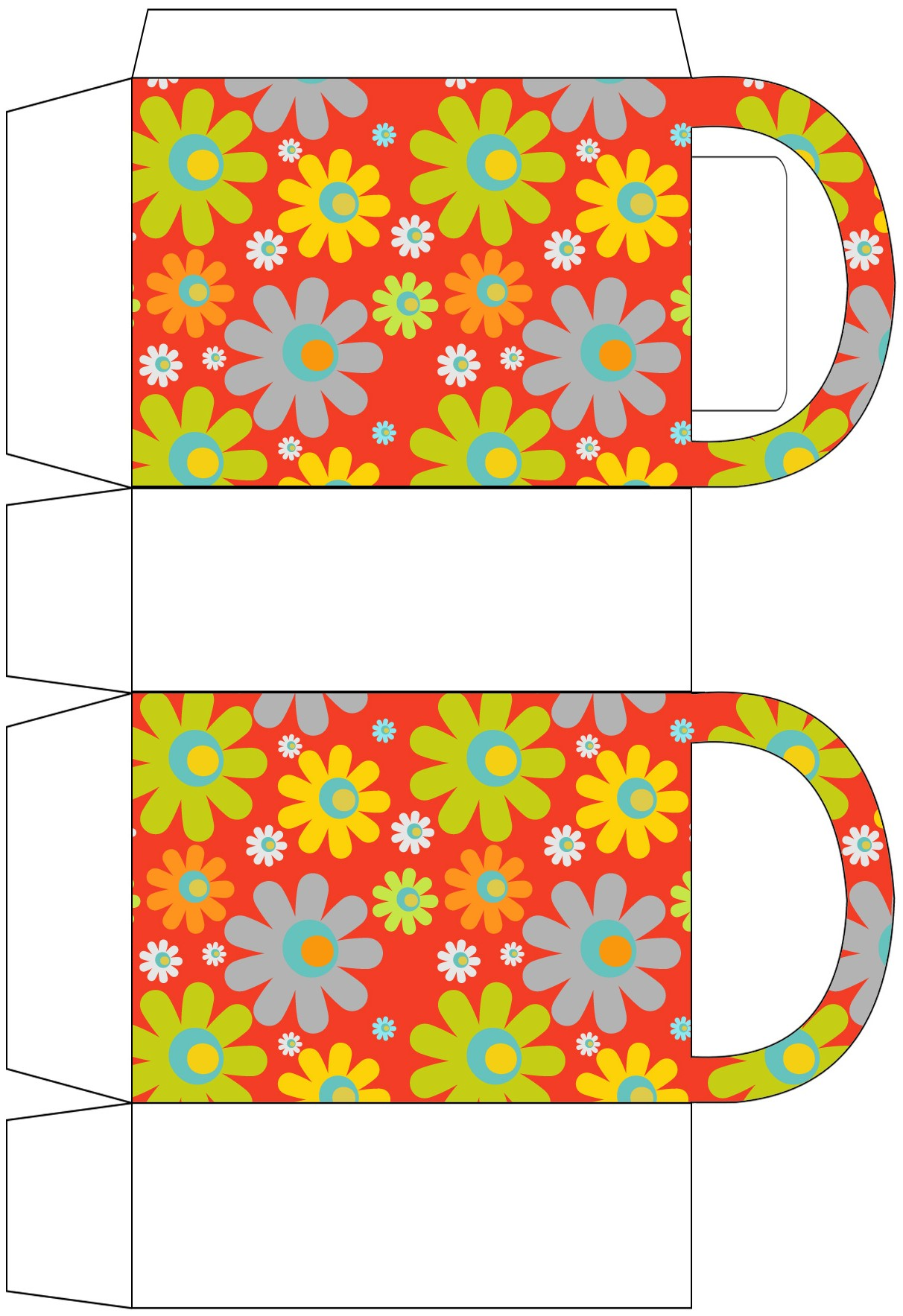 Bright Flowers Party Bag
