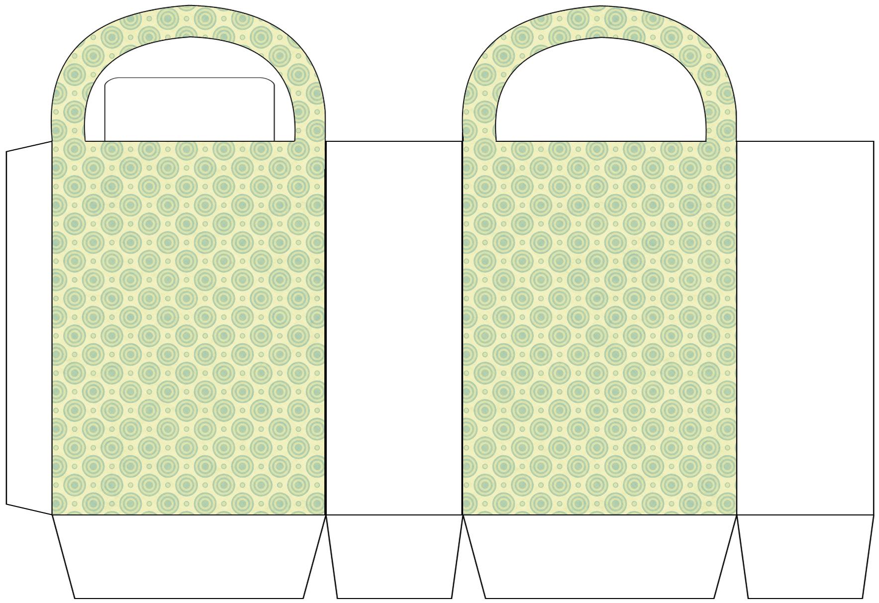 Lime Circles Party Bag