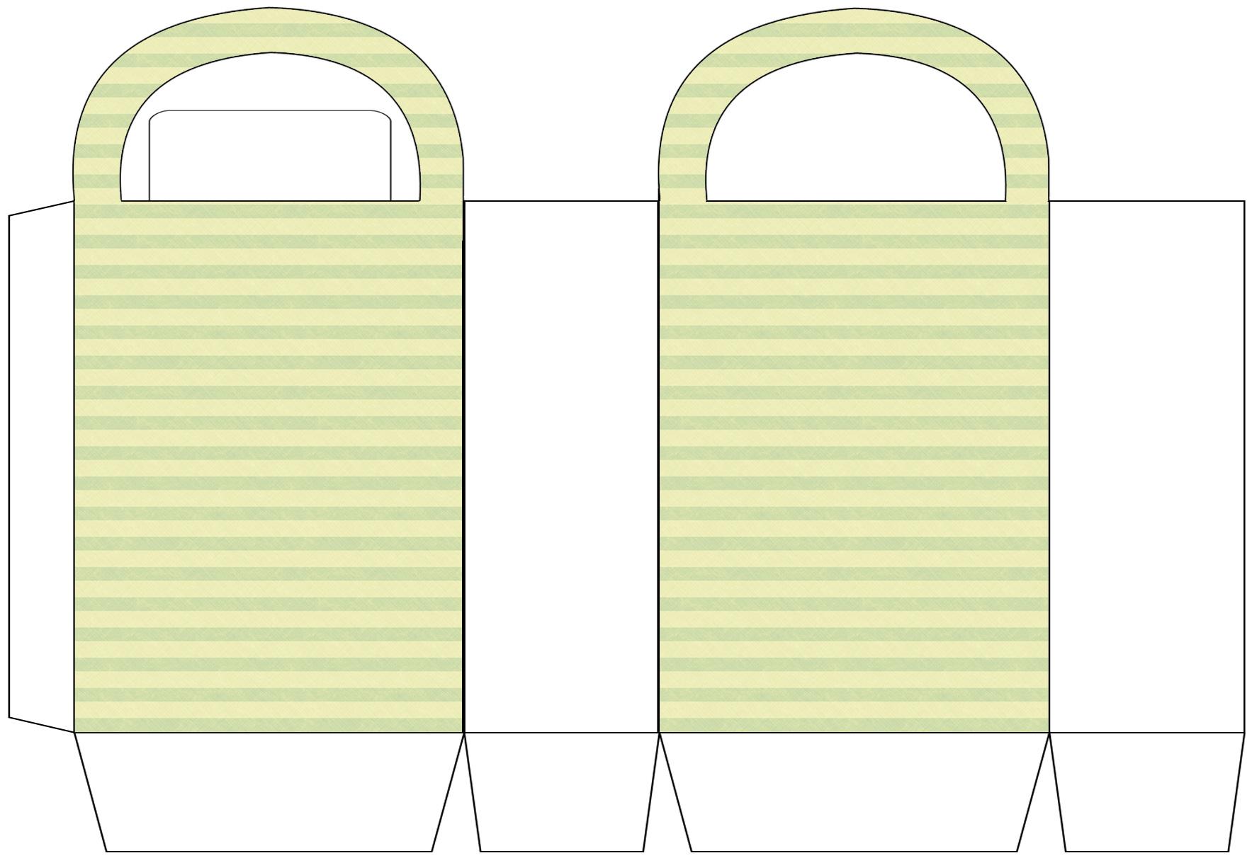 Lime Stripes Party Bag