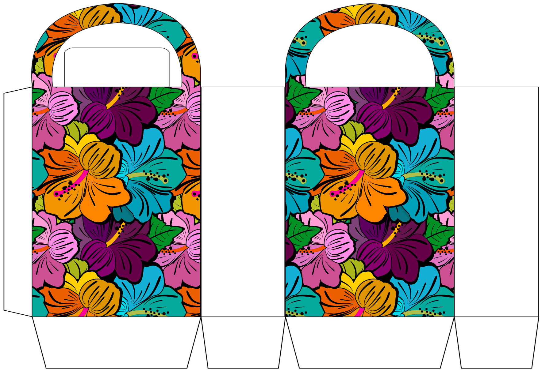 Colourful Blooms Party Bag