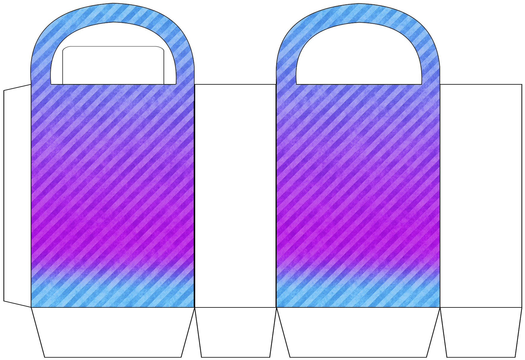 Purple and Turquoise Striped Party Bag