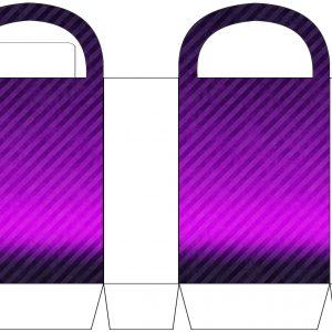Purple Striped Party Bag
