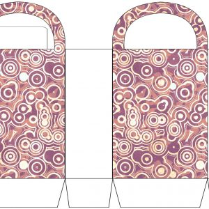 Circle Patterned Party Bag