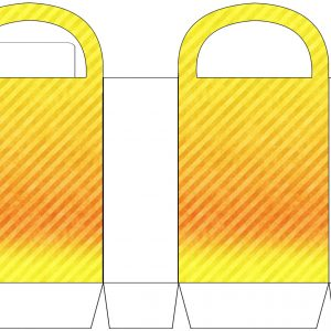 Yellow Striped Party Bag