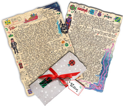Father Christmas Story-Letters - written and illustrated by Leone Betts