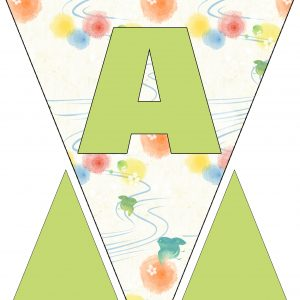 Alphabet Bunting - Letter A