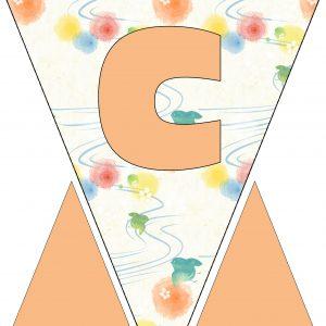 Alphabet Bunting - Letter C