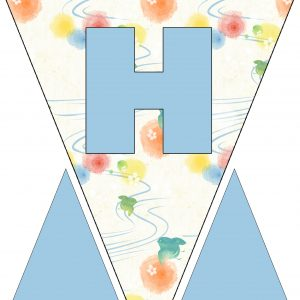 Alphabet Bunting - Letter H