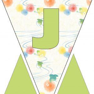 Alphabet Bunting - Letter J