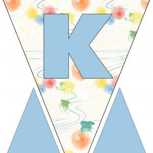 Alphabet Bunting - Letter K