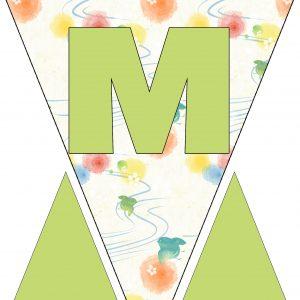 Alphabet Bunting - Letter M