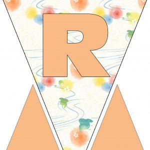 Alphabet Bunting - Letter R