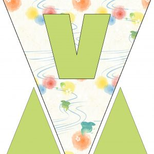 Alphabet Bunting - Letter V