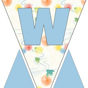 Alphabet Bunting - Letter W