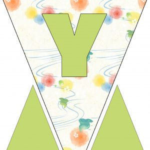 Alphabet Bunting - Letter Y