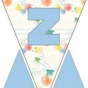 Alphabet Bunting - Letter Z