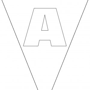 Colouring Bunting - Letter A