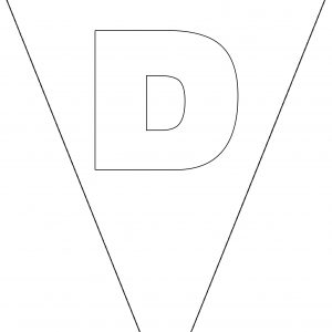 Colouring Bunting - Letter D