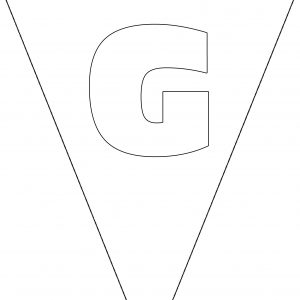 Colouring Bunting - Letter G
