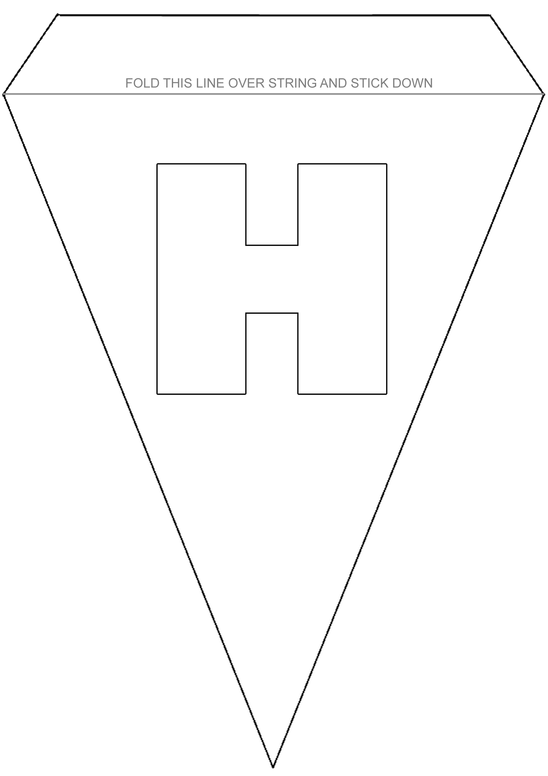 alphabet bunting to colour  u2013 letter h