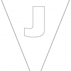 Colouring Bunting - Letter J