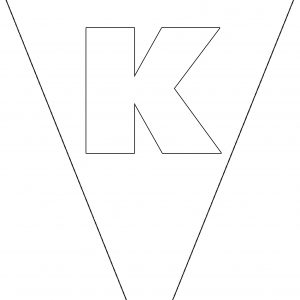 Colouring Bunting - Letter K