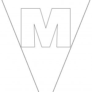 Colouring Bunting - Letter M