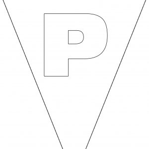 Colouring Bunting - Letter P