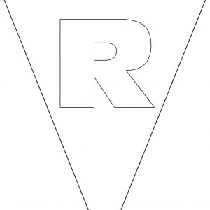 Colouring Bunting - Letter R
