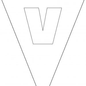 Colouring Bunting - Letter V