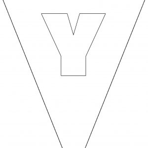 Colouring Bunting - Letter Y