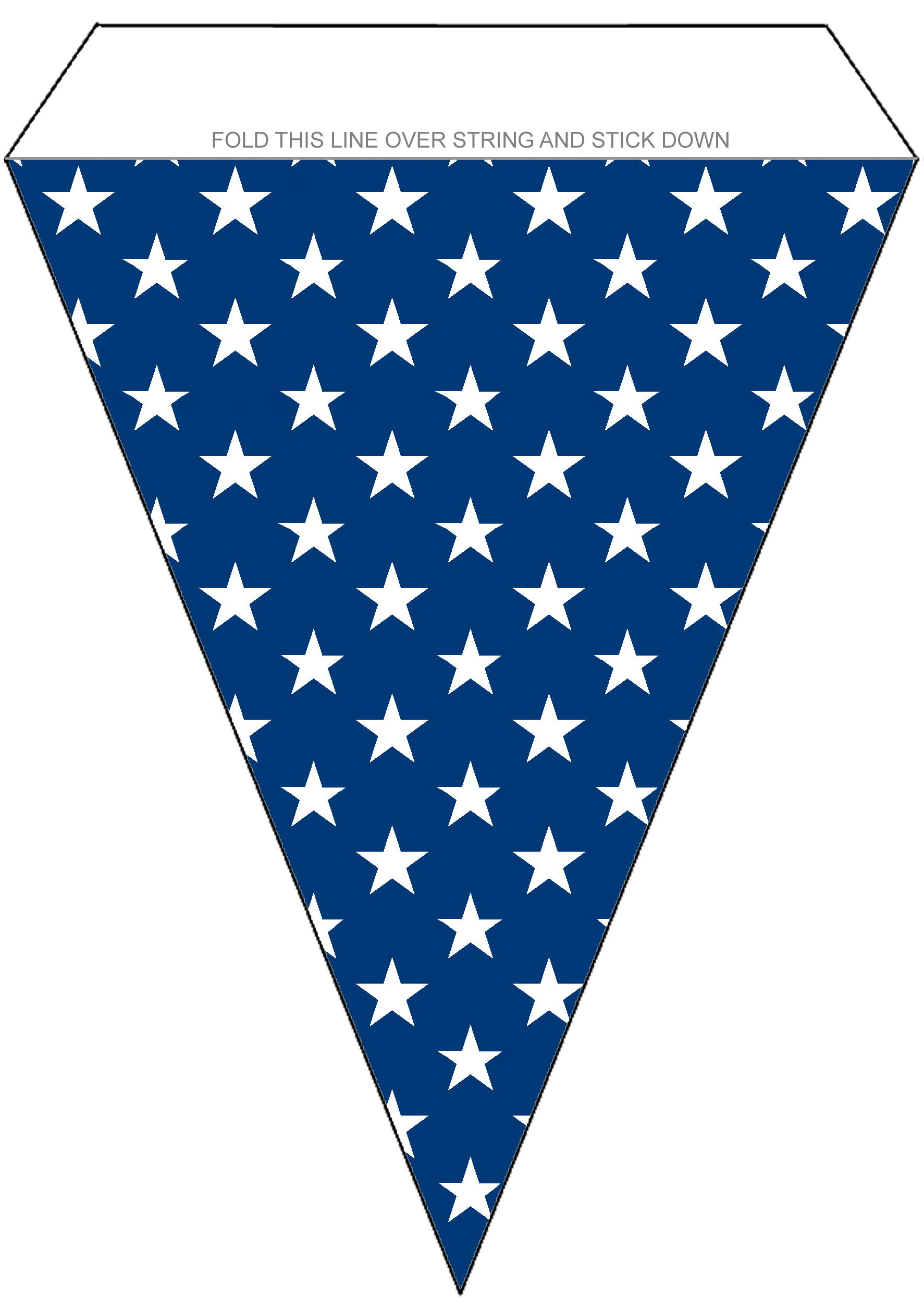 Bunting depicting stars of the USA flag