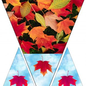 Printable bunting with an autun leaf theme