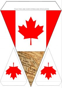 Printable Canadian flag themed bunting