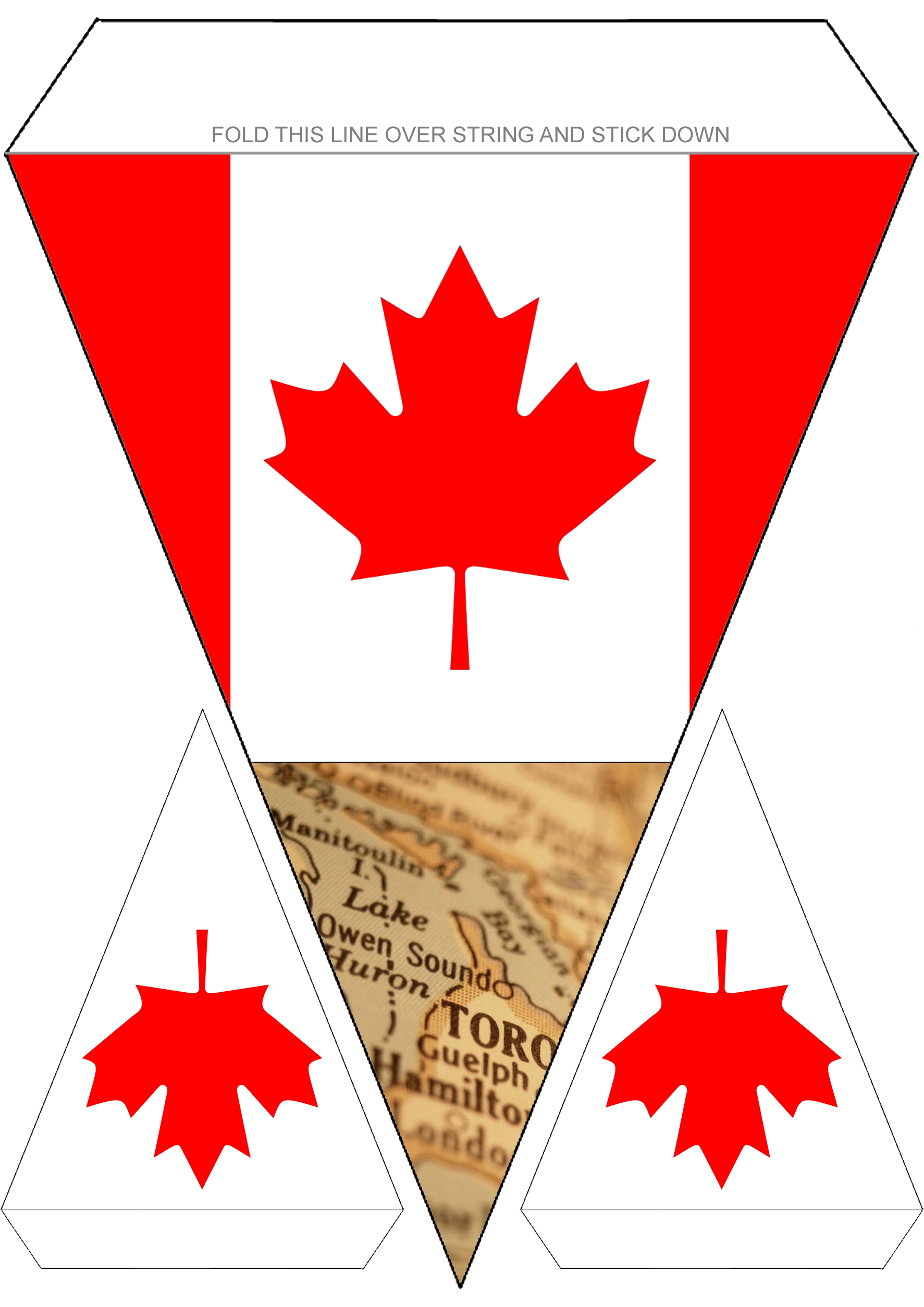 Canadian Flag Bunting Rooftop Post Printables
